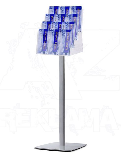 Prémiový Stojan se zásobníkem na 4xA3, 4xA4, 12xDL A-Z Reklama CZ
