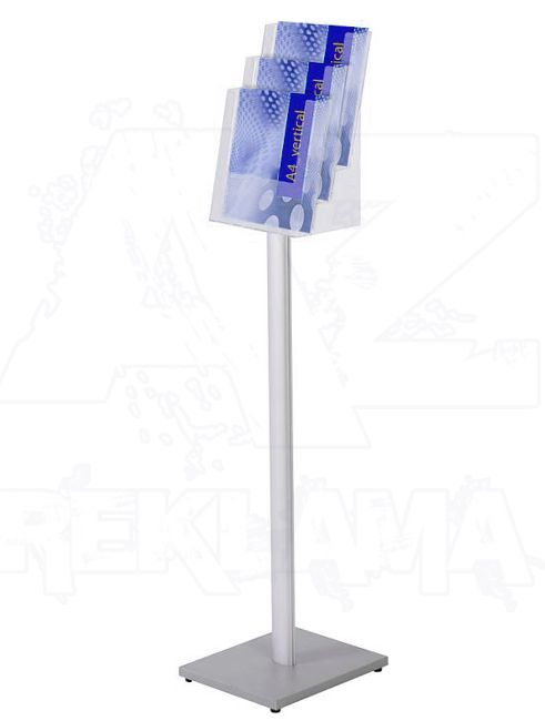 Stojan na podlahu se zásobníkem na letáky 3xA4 A-Z Reklama CZ