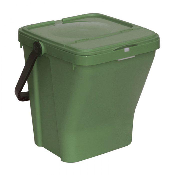 Plastový odpadkový koš na tříděný odpad ECOTOP II, Zelený