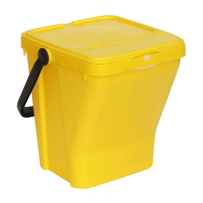 Plastový odpadkový koš na tříděný odpad ECOTOP II, Žlutý