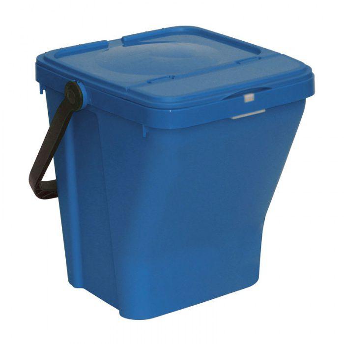 Plastový odpadkový koš na tříděný odpad ECOTOP II, Modrý