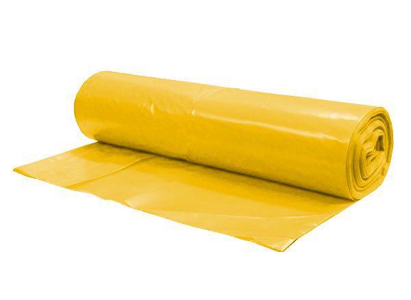 Pytel na odpad 240 litrů, 80 mic, žlutý - 15 bal. Po 5 ks