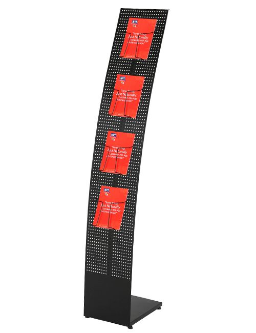 Convex Tower Stand - 265x1560x370 mm, Černý