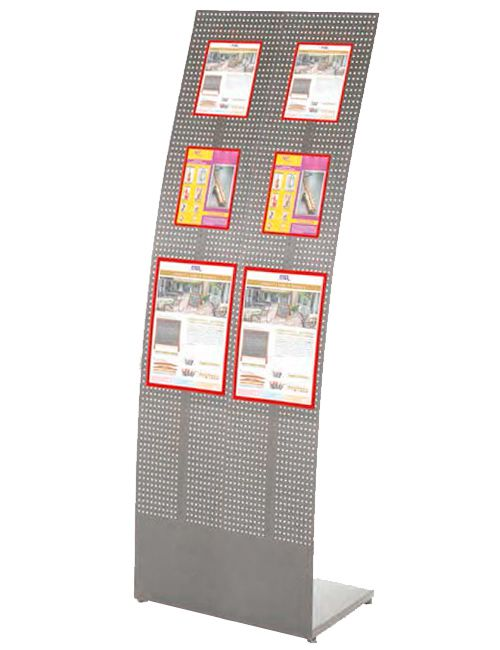 Convex Tower Stand - 460x1560x370 mm, Šedý