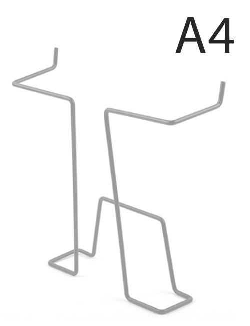 Drátěná kapsa do kovových stojanů formát A4, Šedá
