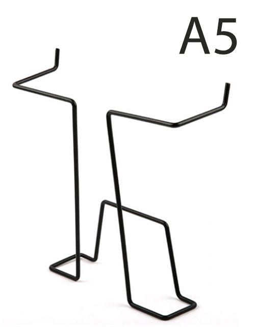 Drátěná kapsa do kovových stojanů formát A5, Černá