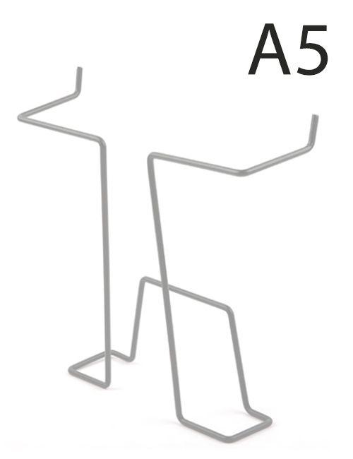 Drátěná kapsa do kovových stojanů formát A5, Šedá