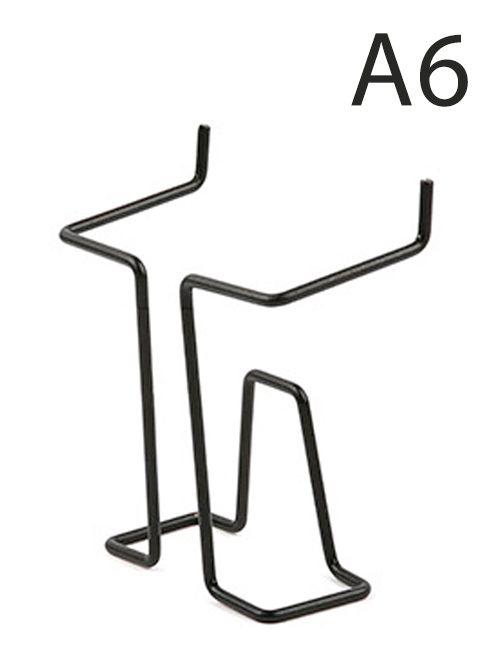 Drátěná kapsa do kovových stojanů formát A6, Černá