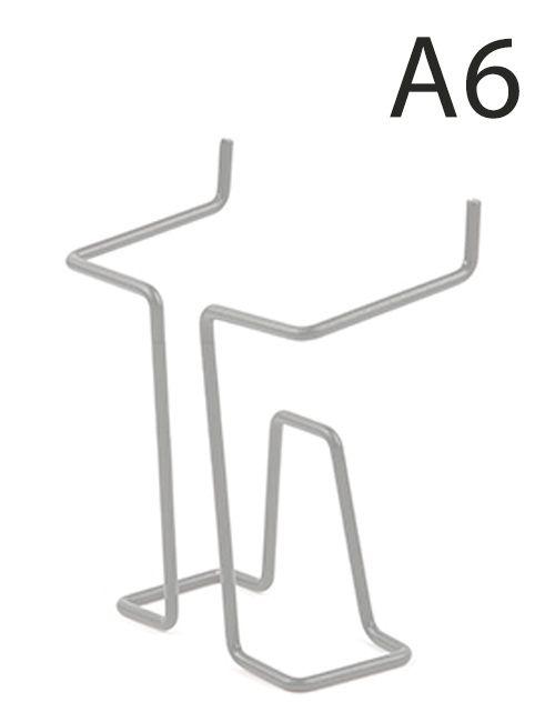 Drátěná kapsa do kovových stojanů formát A6, Šedá