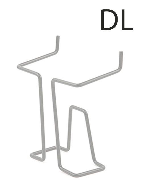 Drátěná kapsa na letáky formát DL-1/3A4, Šedá