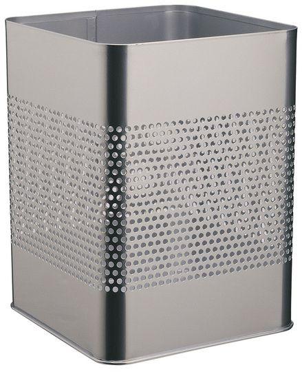 Kovový odpadkový koš 18,5P165 - Stříbrný