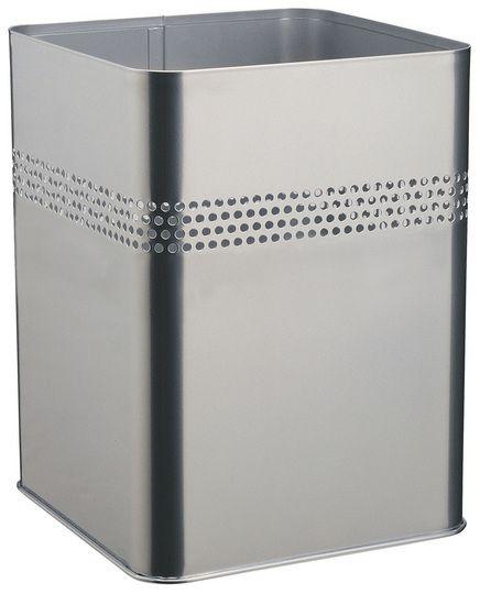 Kovový odpadkový koš 18,5P30 - Stříbrný