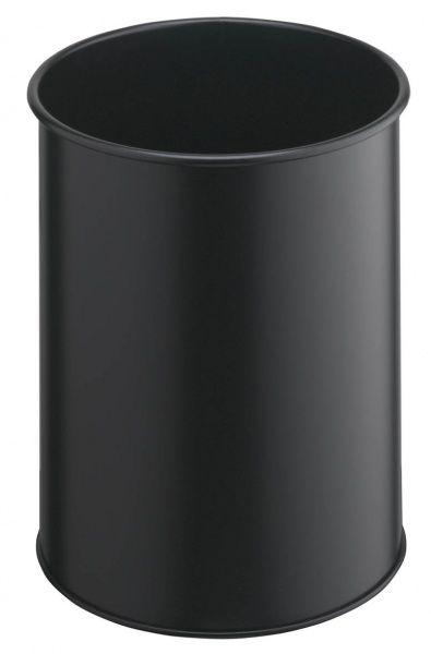 Kovový odpadkový koš kulatý DURABLE 15 - Černý