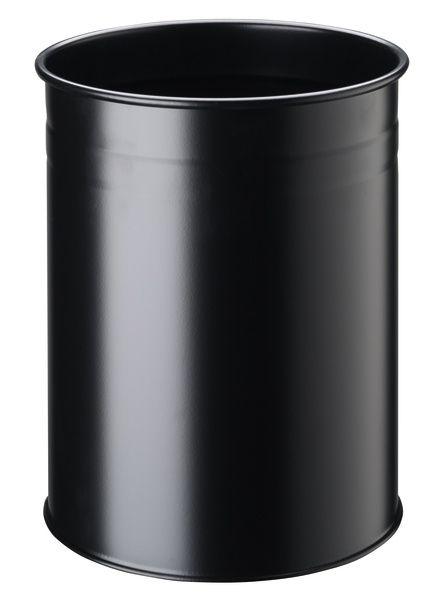 Kovový odpadkový koš 15/D - Černý