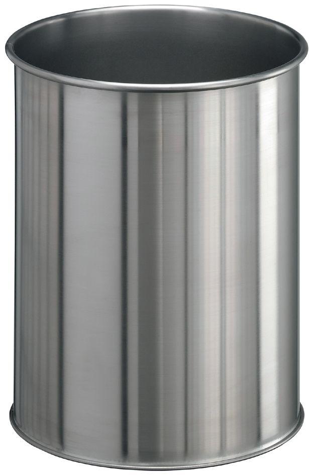 Kovový odpadkový koš kulatý DURABLE 15 - Nerez