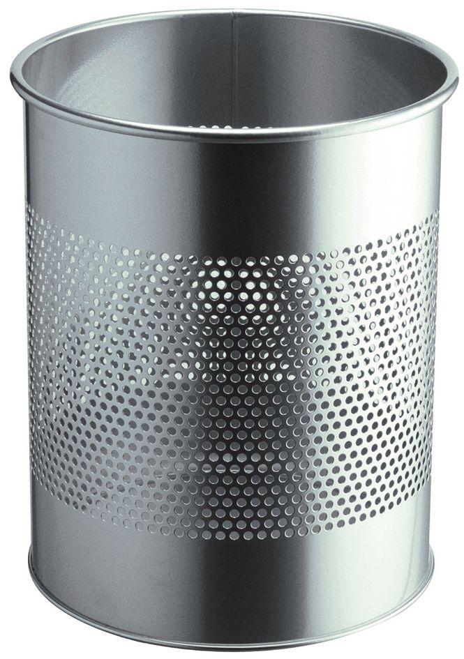 Kovový odpadkový koš 15/P165 - Stříbrný