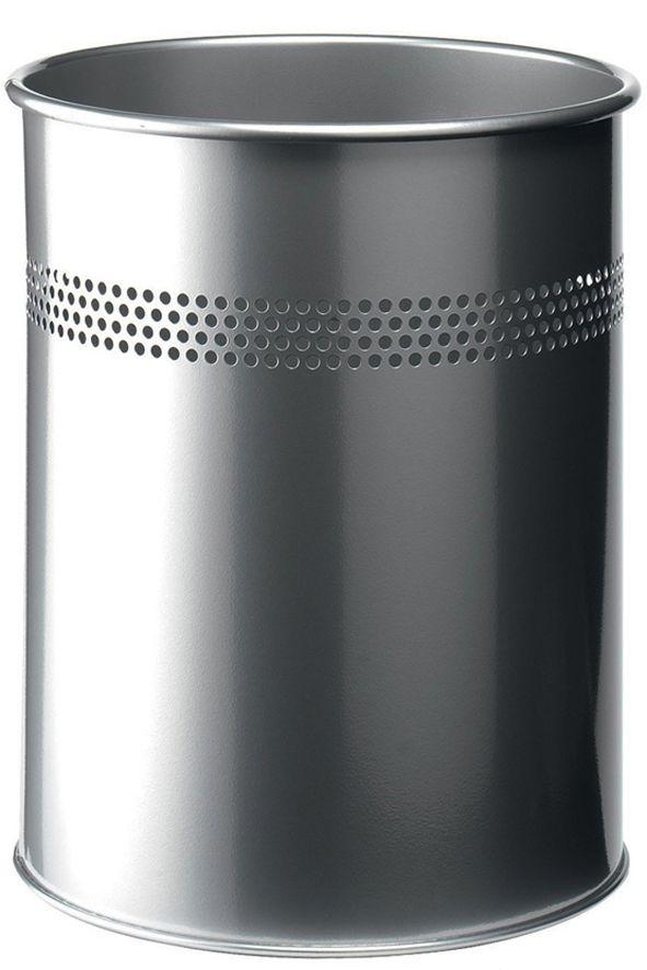 Kovový odpadkový koš 15/P30 - Stříbrný