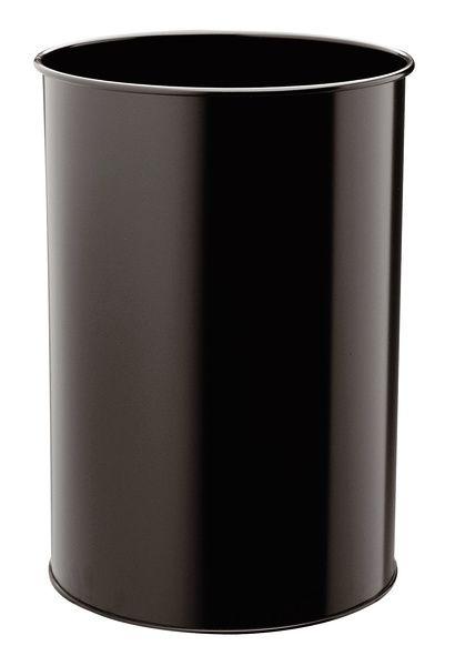 Kovový odpadkový koš kulatý DURABLE 30 - Černý