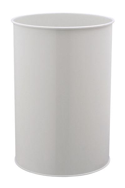 Kovový odpadkový koš kulatý DURABLE 30 - Šedý
