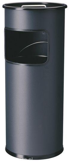 Kovový odpadkový koš s popelníkem 17+2 l - Antracit