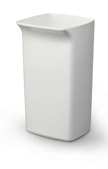 Odpadkový koš DURABIN SQUARE 40 litrů - Bílý
