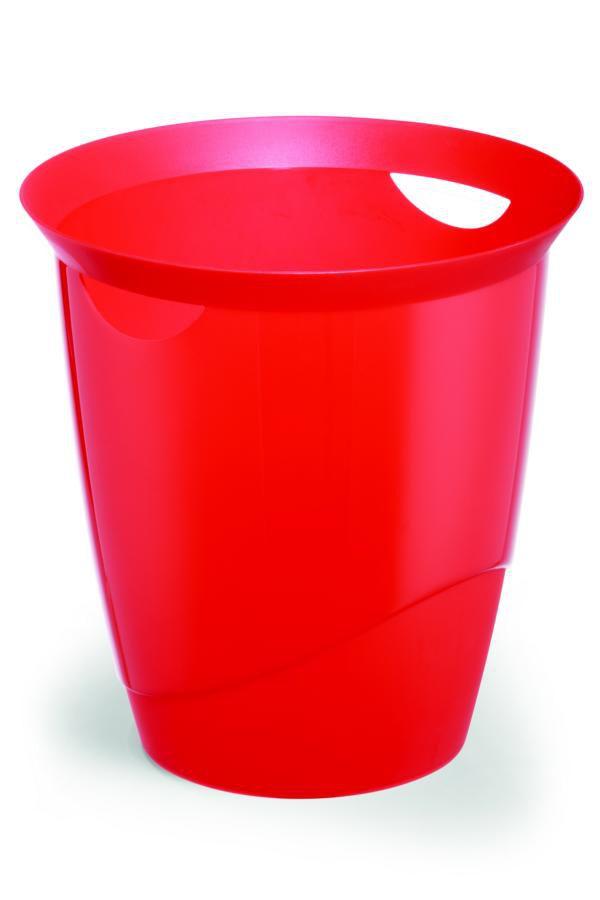 Odpadkový koš TREND 16 L - Transp. Červená