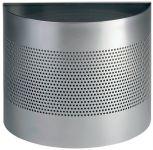 Odpadkový koš půlkruh 20/P165 - Stříbrný