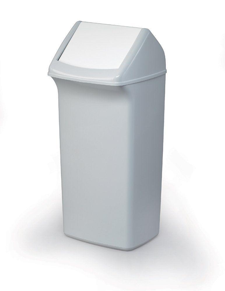 Odpadkový koš, Výkl. Poklop, DURABIN SQUARE 40 - Šedý