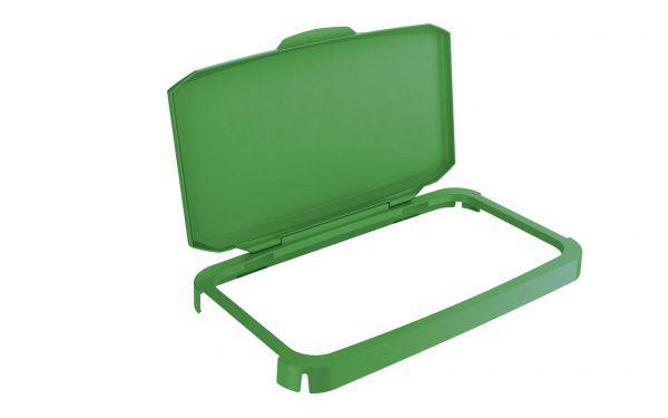 Výklopný poklop na odpadkový koš - DURABIN 60 - Zelený