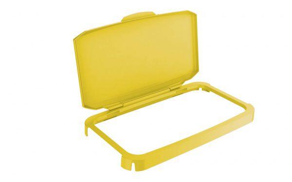 Výklopný poklop na odpadkový koš - DURABIN 60 - Žlutý