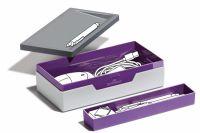 VARICOLOR mobilní úložný box - Purpurová