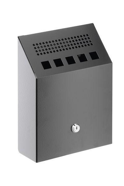 Nástěnný kovový popelník 2,5 litrů - Černý