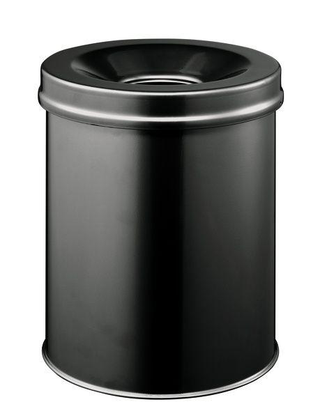 Samozhášecí odpadkový koš Safe, 15 litrů - Černý
