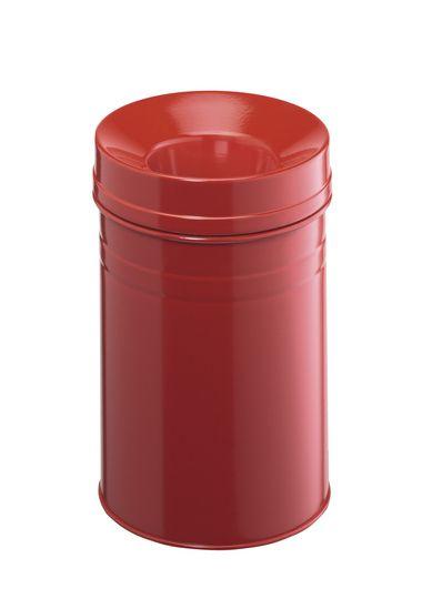 Samozhášecí odpadkový koš Safe+, 15 litrů - Červený