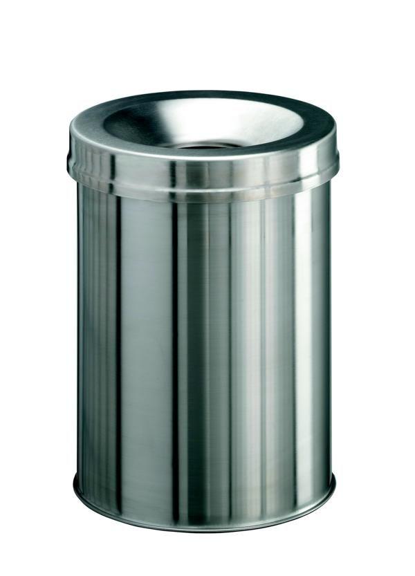 Samozhášecí odpadkový koš Safe+, 15 litrů - Nerez