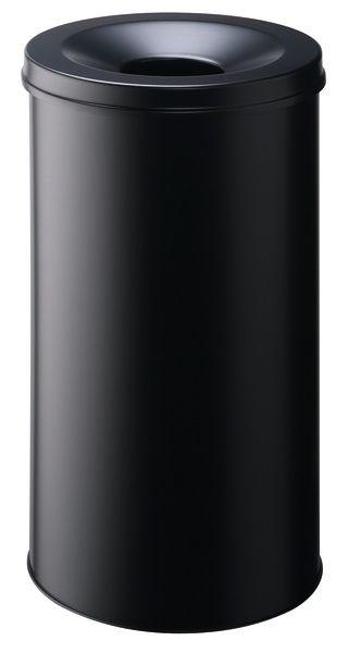Samozhášecí odpadkový koš Safe, 60 litrů - Černý
