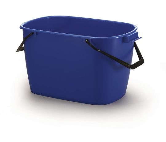 Stabilní čtvercový plastový kbelík, Objem 28 l - Modrý 6 ks