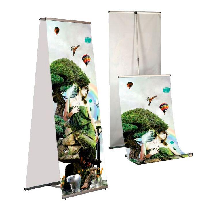 Banner display 100x200 oboustranný, konstrukce