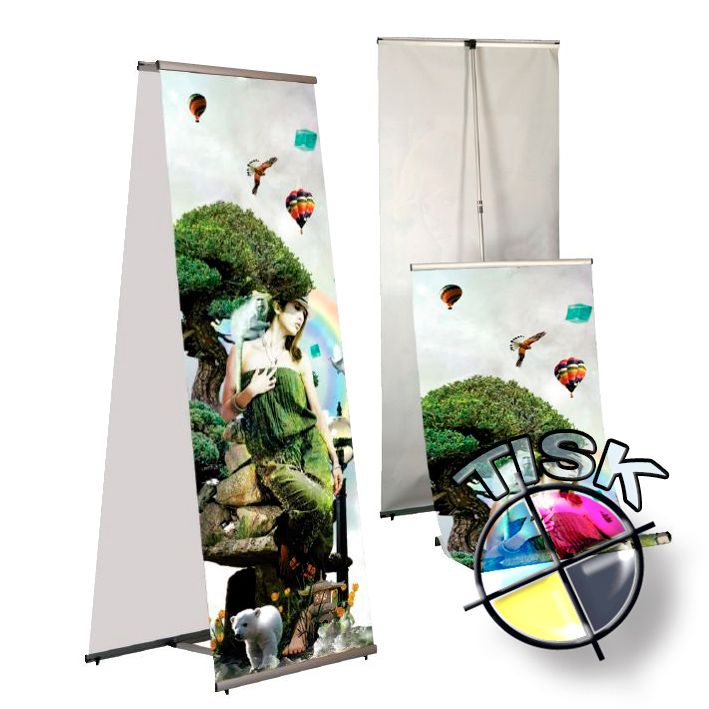 Banner display 100x200 oboustranný s tiskem A-Z Reklama CZ