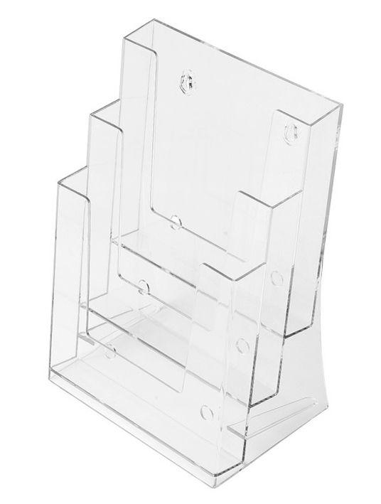 Plastový zásobník na letáky SCRITTO 3x A5