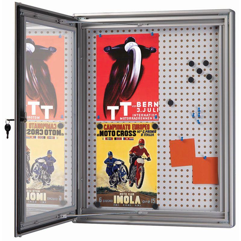 Nástěnková vitrína s kombinovanou stěnou - 12x A4