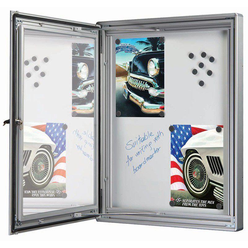 Nástěnková vitrína s magnetickou stěnou - 4x A4