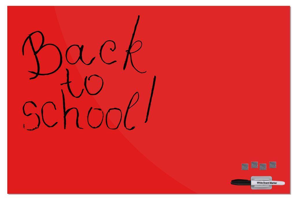 Skleněná magnetická tabule 60x90 cm - Červená A-Z Reklama CZ
