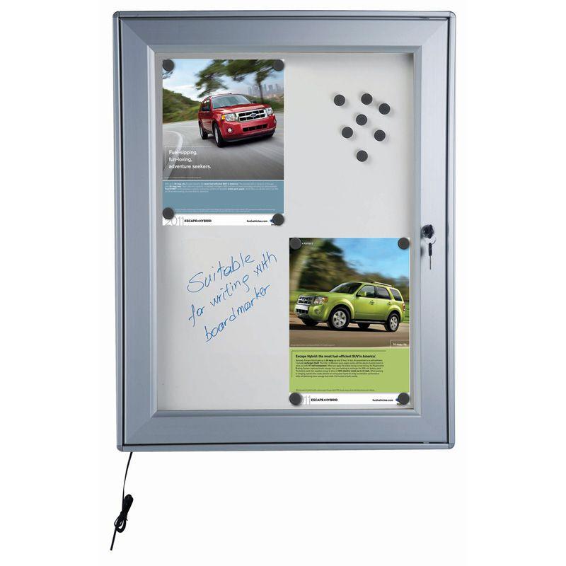 Světelná vitrína s magnetickou stěnou - 9x A4