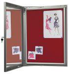 Vitrína textilní stěna - 4x A4, červená