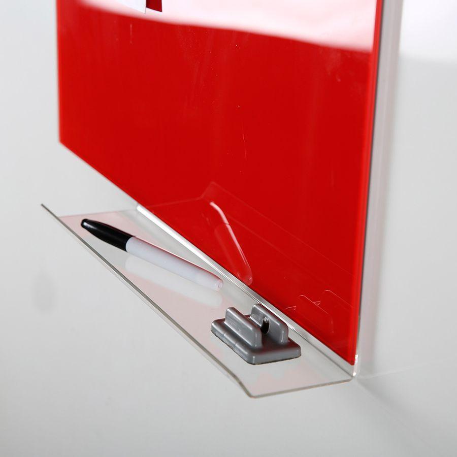 Čirá polička pro magnetické skleněné tabule