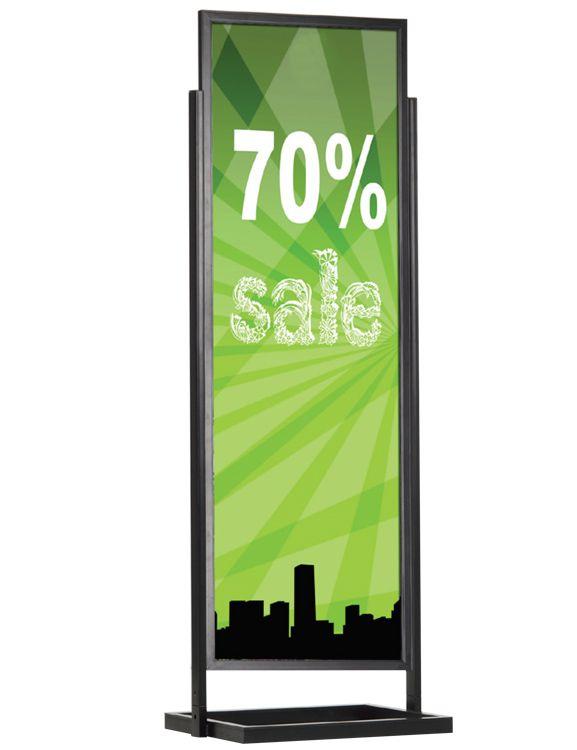 ECO Infoboard s rámem na plakát 50x170 - Černý