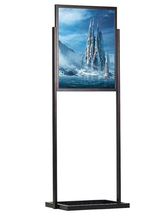 ECO Infoboard s rámem na plakát B2 - Černý