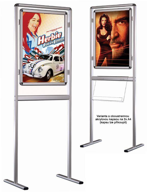 InfoBoard jednostranný s rámem na plakát B2 A-Z Reklama CZ