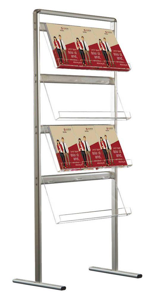 Jednostranný stojan na prospekty Brochure 12x A4 A-Z Reklama CZ